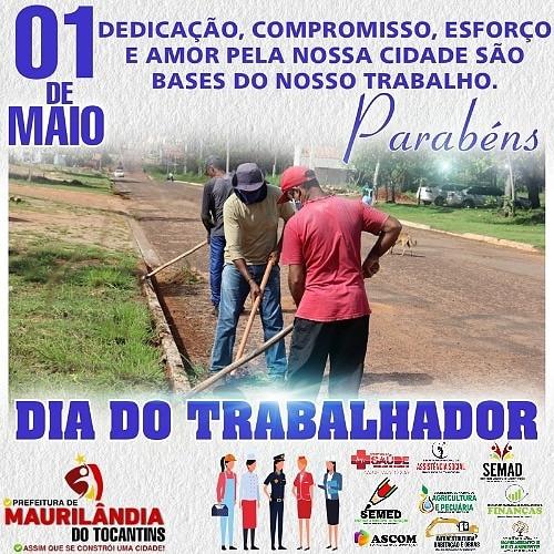 01de Maio dia do Trabalhador