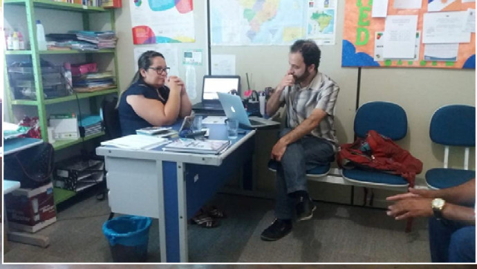 SECRETARIA DE EDUCAÇÃO DE MAURILÂNDIA RECEBE PESQUISADOR DO CONVIVA DE SÃO PAULO.